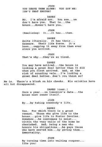 George Romero's Goosebumps script.